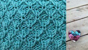 Point ajouré tricot grosse laine