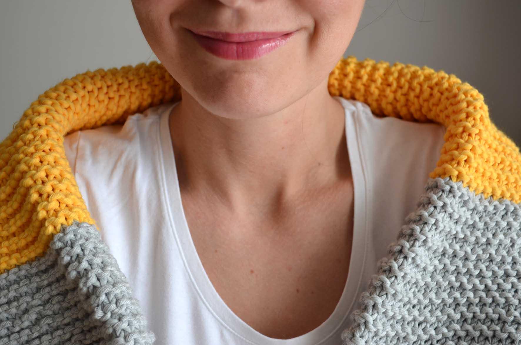 Debutant tricoter une echarpe