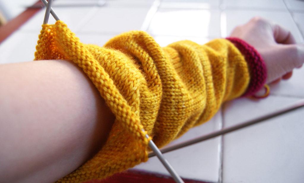 Tricoter aiguilles circulaires rond
