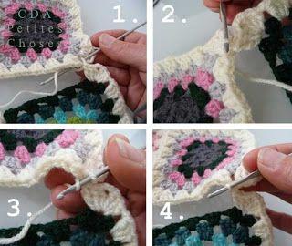 Assembler tricot crochet