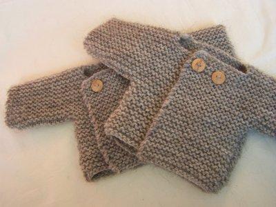 Modele tricot brassiere bébé facile