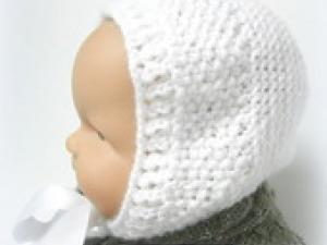 Bonnet vintage bebe tricot