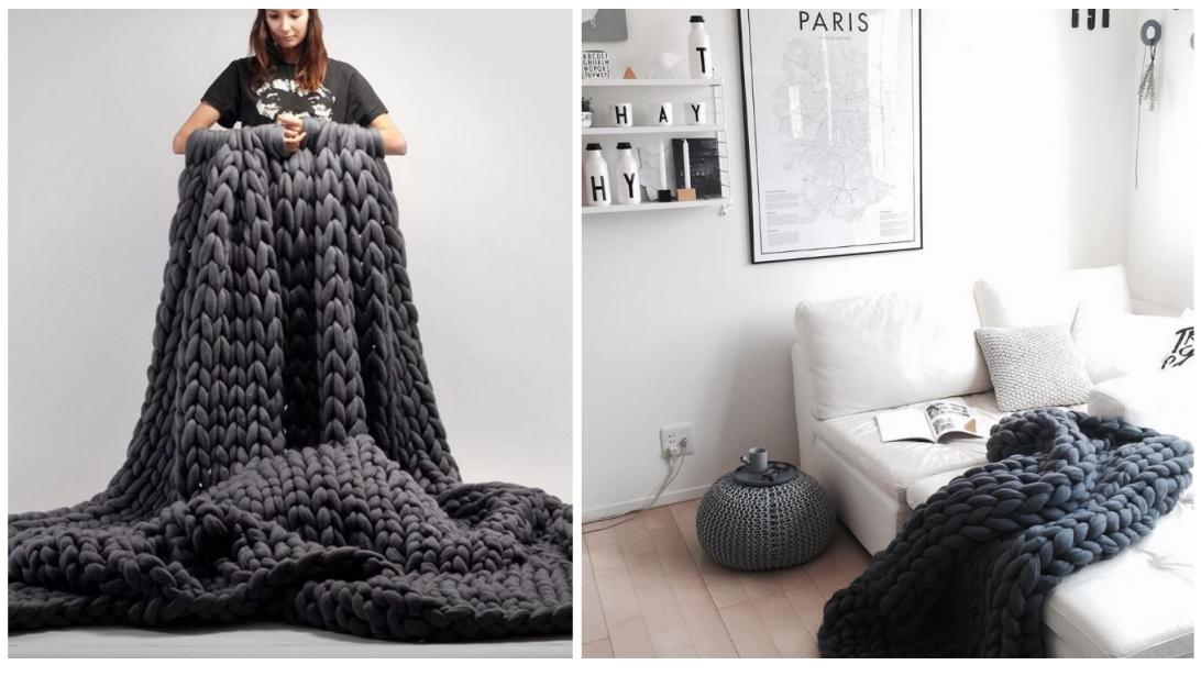 Tricoter avec ses bras couverture