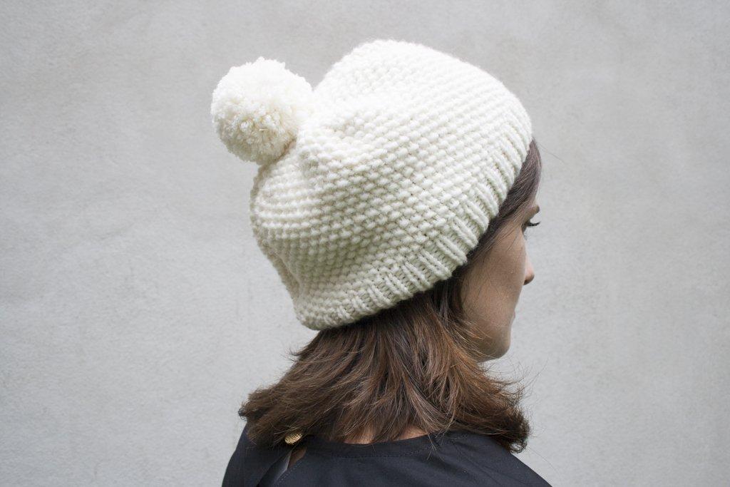 Tricot bonnet aiguille circulaire