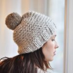 Tricot bonnet femme facile
