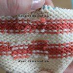 Tricoter en rond sans démarcation