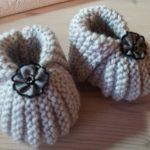 Tricot chaussette bébé facile gratuit