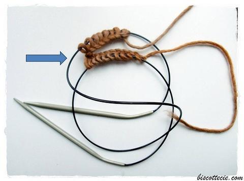 Tricoter en rond le point mousse