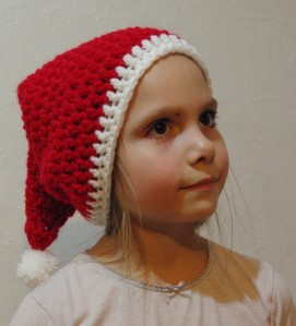 Tricot bonnet noel bébé