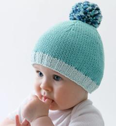 Tricot bonnet bebe grosse laine
