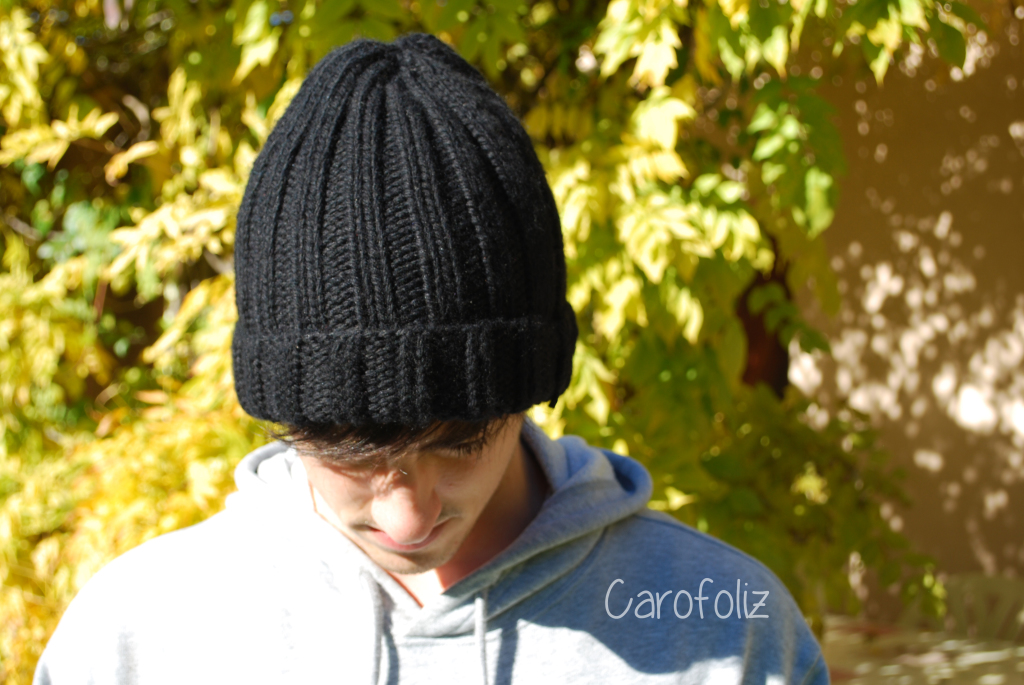 Tricoter bonnet homme grosse laine