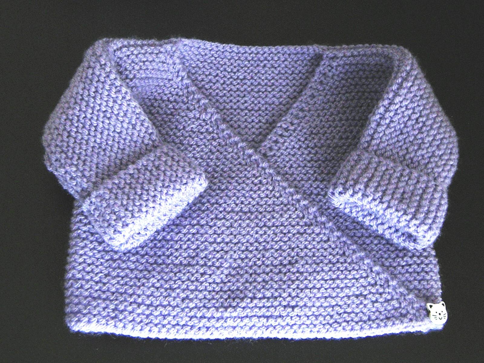 Modele brassiere tricot seule piece