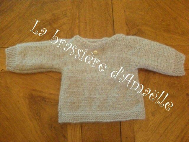 Brassiere tricoter seul morceau