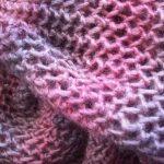 Tricot ajouré pour écharpe