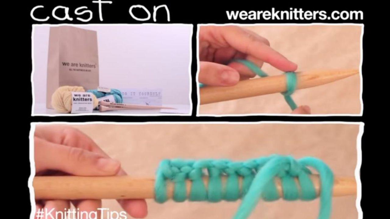 Tuto tricot débutant monter les mailles
