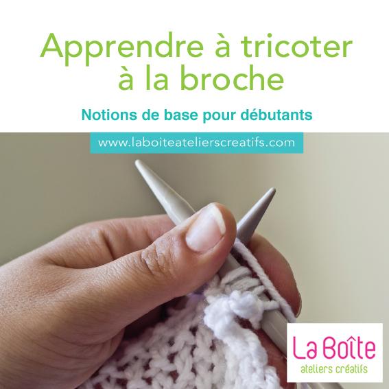 Tricoter apprendre les bases