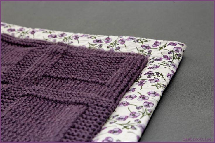 Apprendre tricoter couverture pour bébé
