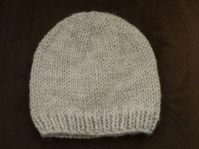Tricot bonnet bébé aiguille 3