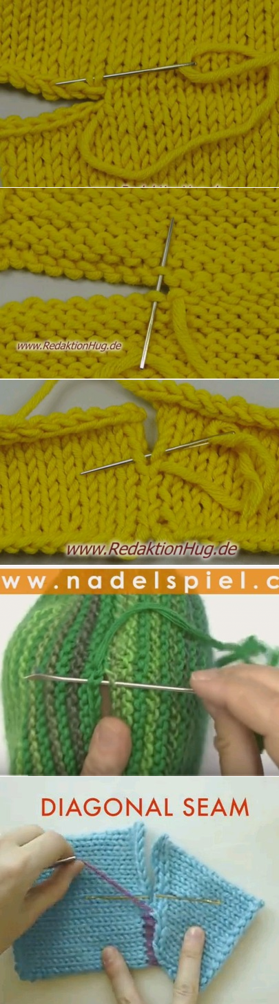 Tricot assemblage col