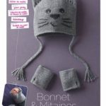Tricot bonnet bébé chat