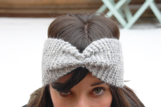 Headband tricot aiguille 7