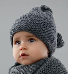 Tricoter bonnet bébé facile point mousse 6 mois