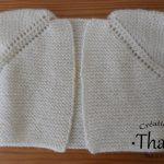 Tricoter brassiere bebe sans couture