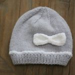 Tricot bonnet bébé aiguille 6