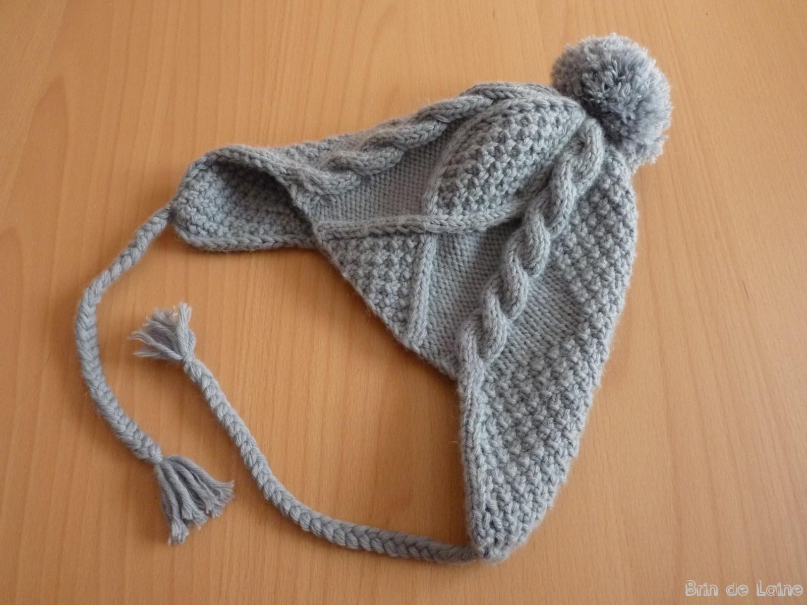 Tricot bonnet peruvien homme