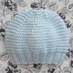 Tricot bonnet bébé prématuré