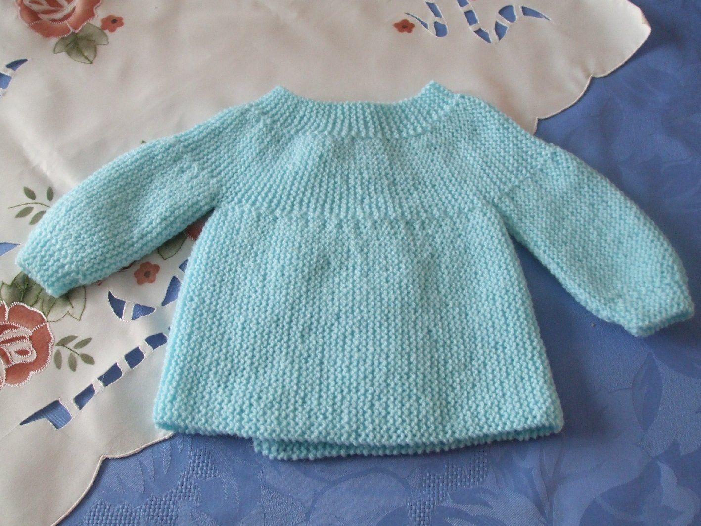 Modèle tricot layette brassière gratuit