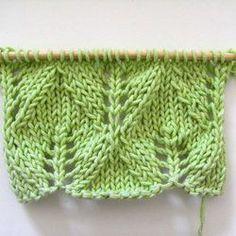 Point de tricot ajouré nouveauté