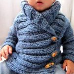 Tricot gilet bébé au crochet