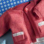 Tricoter un gilet bebe au point mousse