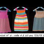 Robe tricot débutant