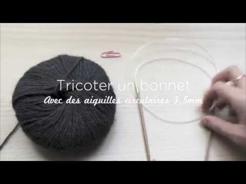 Diminution tricot aiguille circulaire