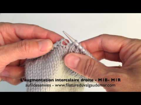 Augmentation intercalaire au tricot