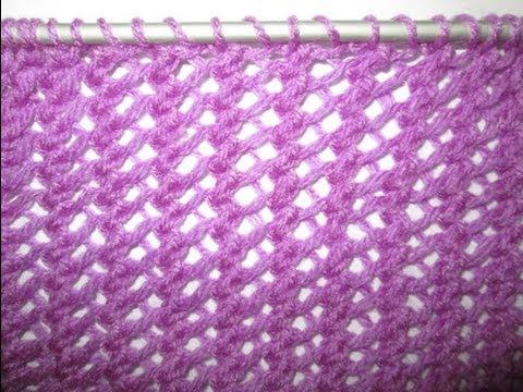 Tricot point ajouré pour écharpe