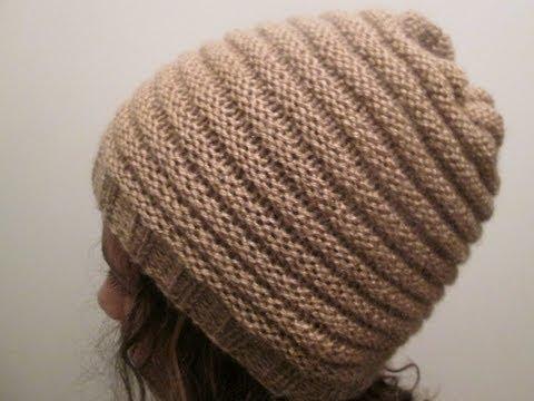 Tricot bonnet aiguille droite
