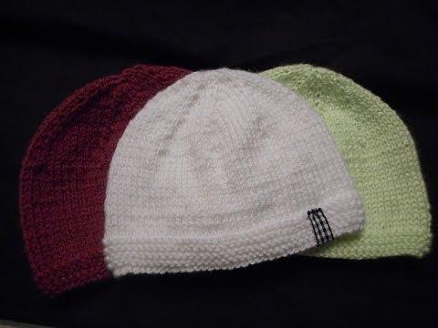 Tuto tricot bonnet bébé point mousse