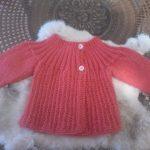 Tuto tricot brassiere bebe fadinou