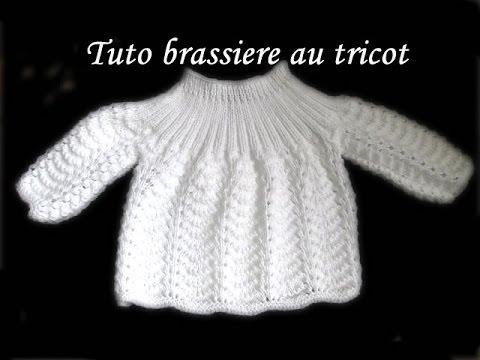 Explication tricot brassiere kimono bebe