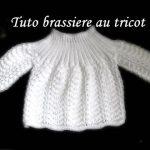 Tricoter une brassiere en commencant par le col