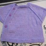Tricoter brassiere manche raglan