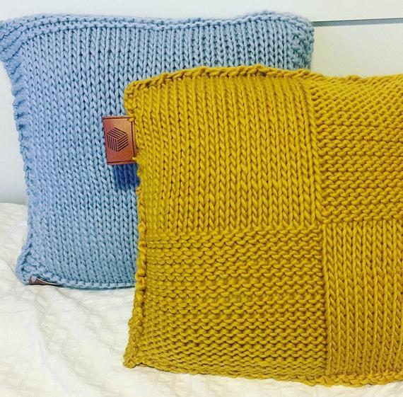 Tricoter coussin débutant