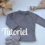 Tricoter brassiere croisée devant