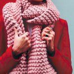 Apprendre tricoter echarpe grosse maille