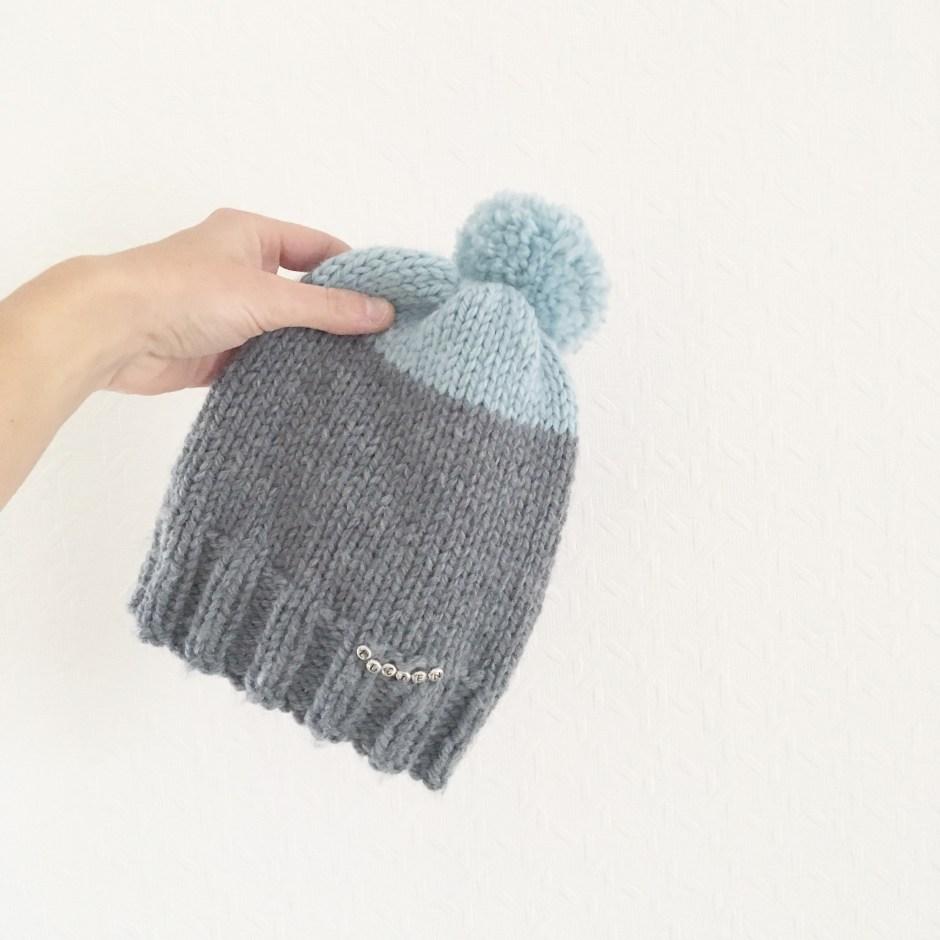 Tricoter bonnet bébé avec 4 aiguilles