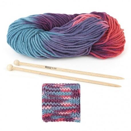 Tricot aiguille laine