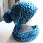 Kit tricot bonnet femme